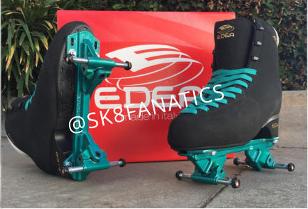 8d2dfd3aaa9c EDEA BOOT SKATE Edea Classica Boots (approx.  329) Powder-Coated Hardware  (Jamaican teal) Wheels (not attached) Riedell Arius skate plate (starts   299) ...